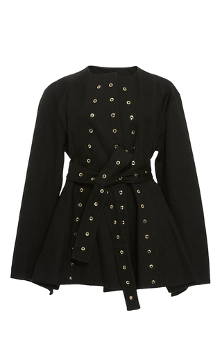 Medium ellery black femme eyelet jacket