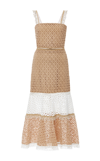 Medium alexis tan erin fit and flare dress