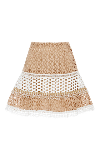 Medium alexis tan larissa flared skirt