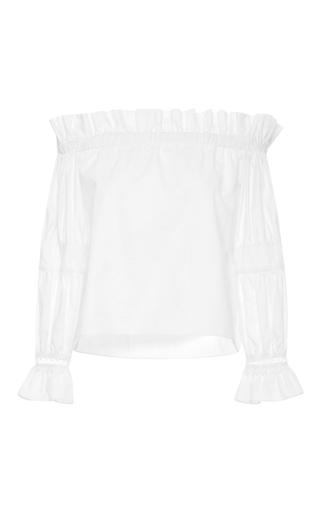Medium alexis white ellen off the shoulder top