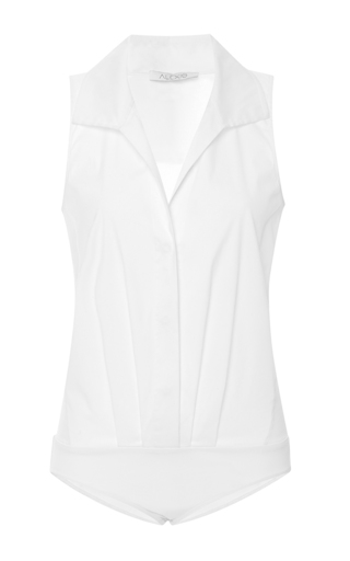 Medium alexis white lima collared bodysuit