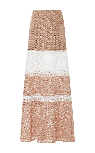 Medium alexis tan laetitia tiered skirt