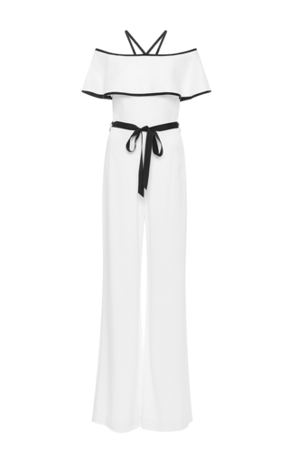 Medium alexis white spencer off the shoulder jumpsuit