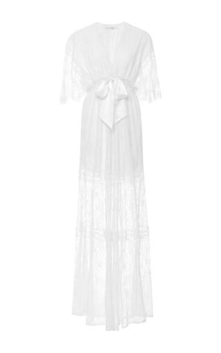 Medium alexis off white cleve lace gown