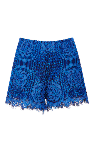 Medium alexis blue blue gigi lace shorts