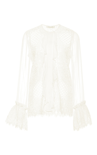 Medium alexis ivory amilina ruffled top