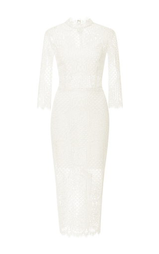 Medium alexis ivory miller lace dress