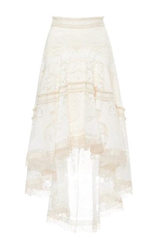 Medium alexis white belle asymmetric skirt