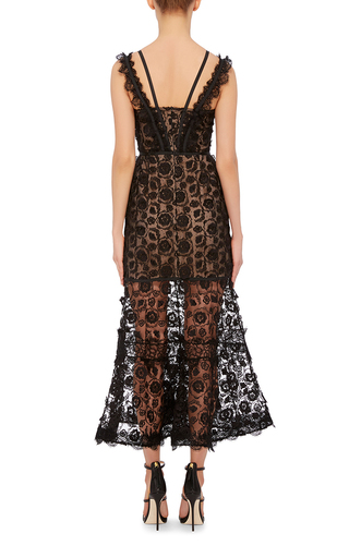 Lorelle Lace Trumpet Dress by ALEXIS Now Available on Moda Operandi