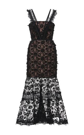 Medium alexis black lorelle lace trumpet dress