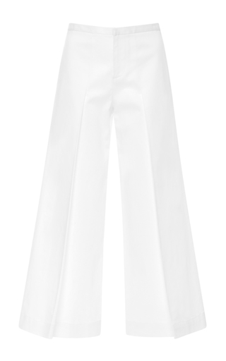 Medium alexis white chrissy pleated pant