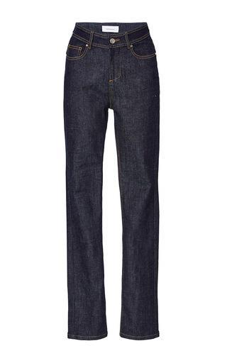 Medium carven dark wash boyfriend jeans