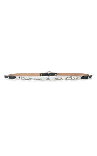 Medium carven gold metallic chain belt