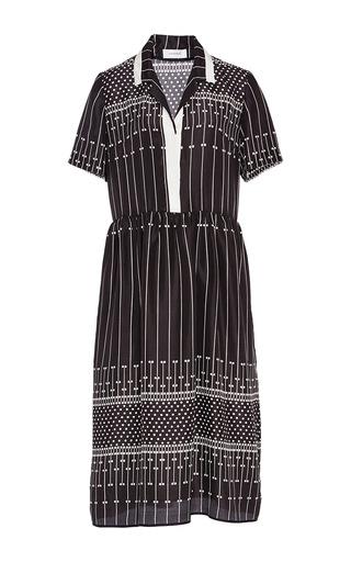 Medium carven black silk shirt dress