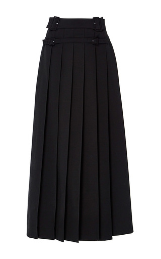 Medium carven black knife pleated a line skirt
