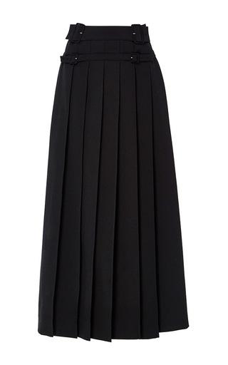 Medium carven black knife pleated a line skirt