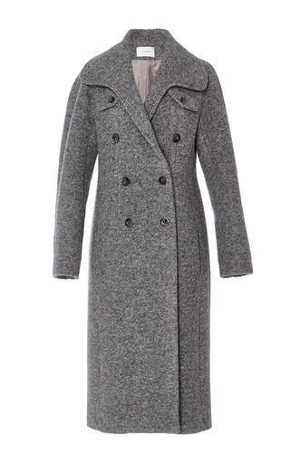 Medium carven dark grey dark grey long wool coat