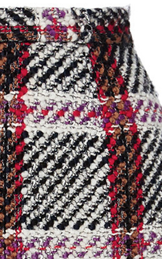 Checked Mini Skirt by CARVEN Now Available on Moda Operandi