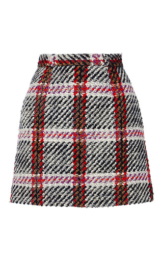 Medium carven plaid checked mini skirt