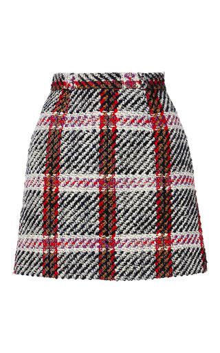 Medium carven plaid checked mini skirt