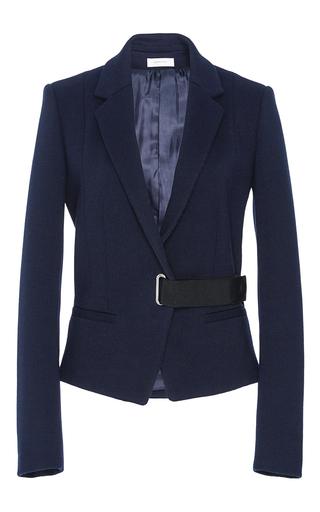Medium carven navy tailored wrap jacket