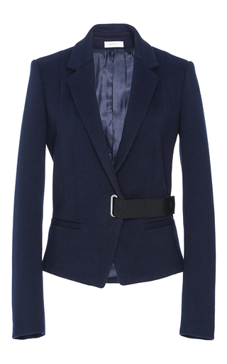 Medium carven navy tailored wrap jacket
