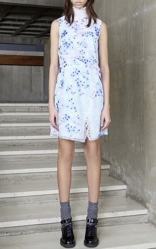 Draped Printed Lace Dress by CARVEN Now Available on Moda Operandi