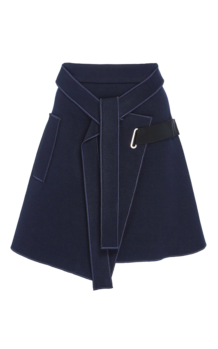 wrap a line skirt by carven moda operandi