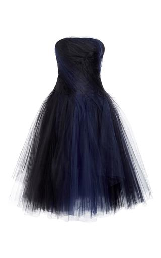Medium oscar de la renta black strapless tulle dress