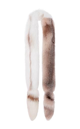 Medium oscar de la renta pink shadow frost fox and natural sunglo fox fur stole