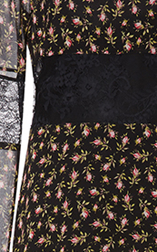 Floral Georgette Panel Gown by PHILOSOPHY DI LORENZO SERAFINI Now Available on Moda Operandi