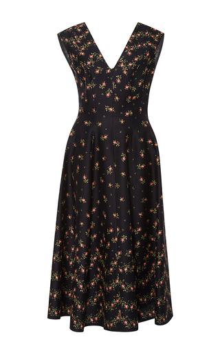 Floral Cady V Neck Dress by PHILOSOPHY DI LORENZO SERAFINI Now Available on Moda Operandi