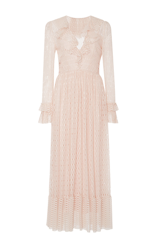 Medium philosophy di lorenzo serafini pink ruffled lace dress