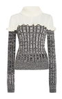 Ruffled Merino Colorblock Sweater by PHILOSOPHY DI LORENZO SERAFINI Now Available on Moda Operandi