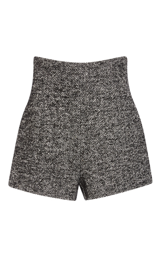 Medium philosophy di lorenzo serafini dark grey wool herringbone shorts