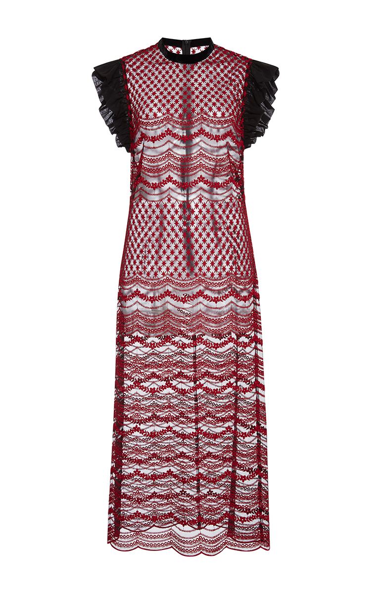 Classic Cheap Online With Mastercard For Sale Embroidered tulle dress Philosophy di Lorenzo Serafini Outlet Get Authentic Official Site Online Buy Cheap Geniue Stockist 6t5XF