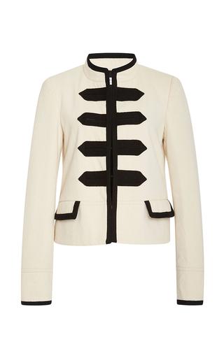 Medium philosophy di lorenzo serafini black white gabardine military jacket