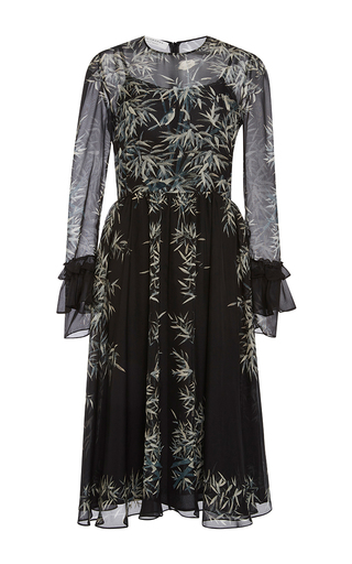 Medium philosophy di lorenzo serafini black black tropical chiffon dress