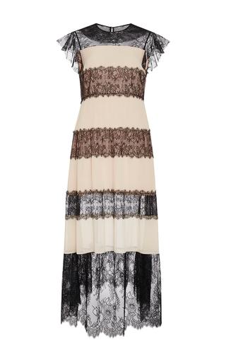 Medium philosophy di lorenzo serafini nude lace panel georgette dress