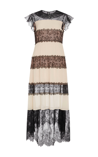 Medium philosophy di lorenzo serafini nude lace panel georgette dress
