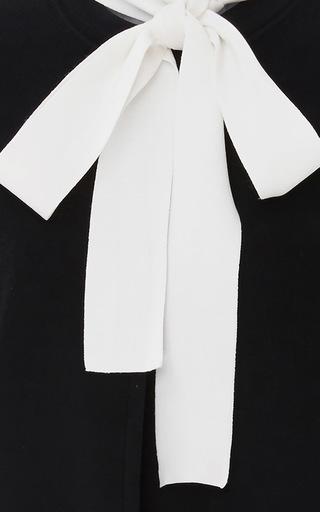 Layered Neck Tie Sweater by PAULE KA Now Available on Moda Operandi