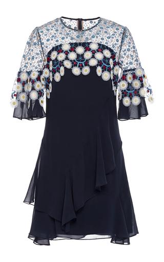 Medium peter pilotto navy silk embroidered mini dress