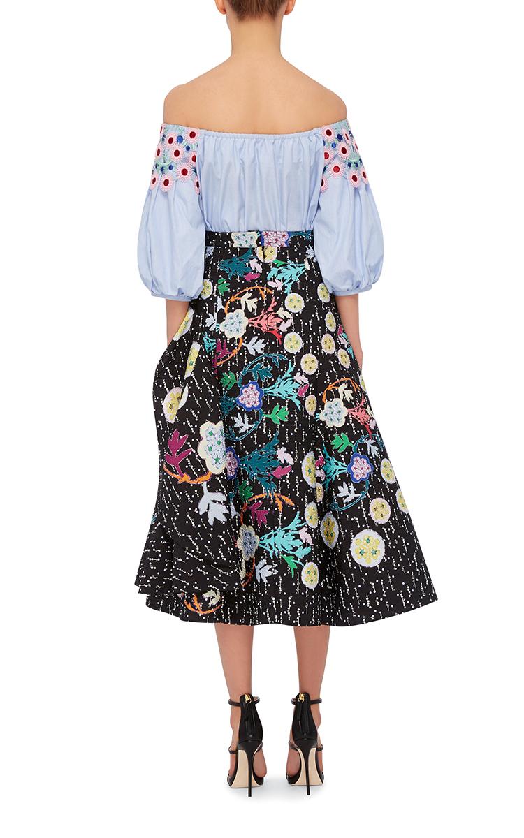 Get Authentic Cheap Online Peter Pilotto Woman Printed Jersey Top Black Size L Peter Pilotto Sale Authentic Footlocker Finishline Online 100% Original For Sale Mdke0
