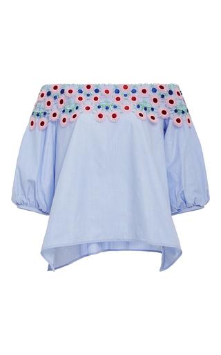 Medium peter pilotto light blue pallas cotton lace blouse
