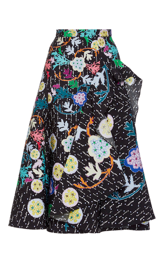 Medium peter pilotto multi printed plisse skirt