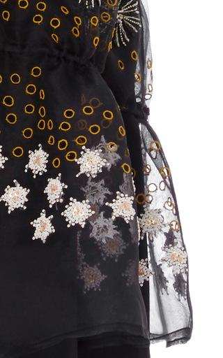 Peplum Top With Embellished Overlay by SUNO Now Available on Moda Operandi