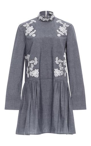 Medium suno dark grey embroidered cutout dress