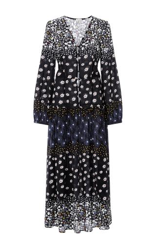 Medium suno floral floral long sleeved maxi dress
