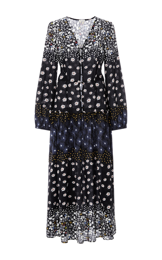 Medium suno floral floral long sleeved maxi dress