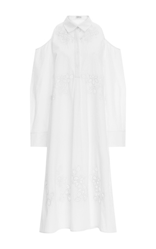 Medium suno white cutout shirt dress